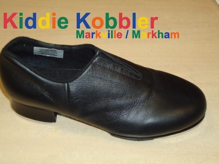 bloch 389 black slip on tap shoe child s size